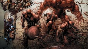 Spider-man captain america wolverine carnage marvel comics hawkeye Wallpaper