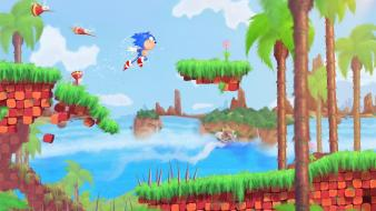 Spikes digital art artwork retro sega sea wallpaper