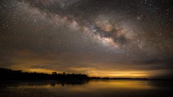 Stars milky way skyscapes skies wallpaper