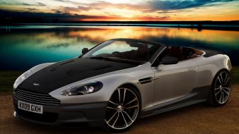 Sunset aston martin db9 cabrio wallpaper