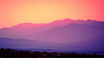Sunset mountains landscapes california death valley wallpaper