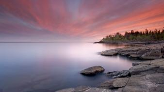 Sunset point minnesota lake superior wallpaper