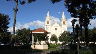 Trees brazil church campo largo paraná bandstand wallpaper