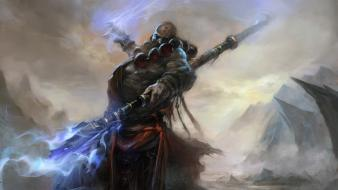 Video games diablo fantasy art artwork iii monk wallpaper