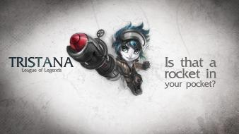 Video games league of legends tristana di wallpaper