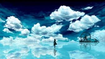 Water clouds creative wallpaper