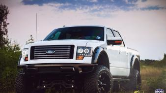 White cars ford f-150 wallpaper