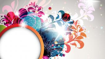 Abstract elements floral graphics vector art wallpaper