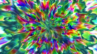 Abstract paint psychedelic rainbows colors paintwork wallpaper
