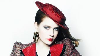 Actresses redheads amy adams hats simple background Wallpaper