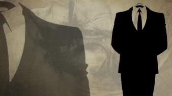 Anonymous suit tie headless wallpaper