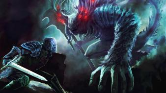 Art artwork fan dark souls father abyss wallpaper