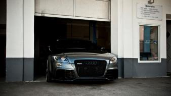 Audi tt coupe front view german grey wallpaper