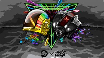 Beheaded daft punk art wallpaper