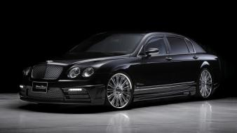 Black cars vehicles bentley continental flying spur bison wallpaper