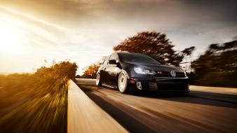 Black front volkswagen golf gti wallpaper