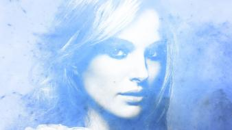 Blue actresses natalie portman soft light Wallpaper