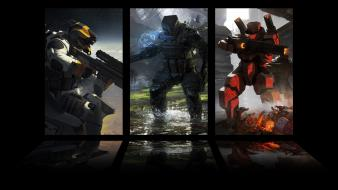 Cards dark robots galaxies armor artwork galaxy saga wallpaper