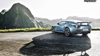 Cars top gear aston martin zagato mountain view wallpaper