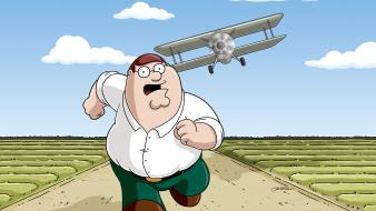 Cartoons family guy biplane peter griffin wallpaper