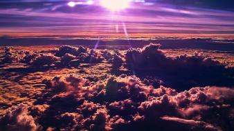 Clouds sunlight skyscapes wallpaper