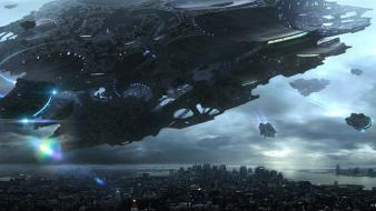 Concept art science fiction artwork drawings presence wallpaper