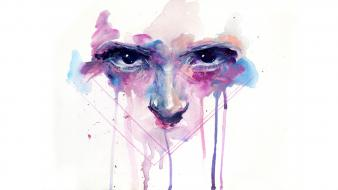 Eyes minimalistic faith simple background agnes cecile wallpaper