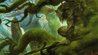 Fantasy art artwork cernunnos john howe celtic mythology wallpaper