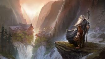 Fantasy art artwork hobbit fan wallpaper