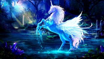 Fantasy art pegasus artwork crystal wallpaper
