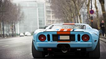 Ford gt wheels gt40 gulf stripes muscle car wallpaper
