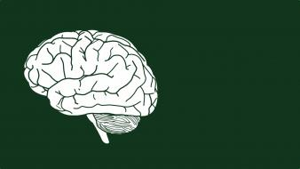 Green white brain clean wallpaper