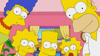 Homer simpson the simpsons bart lisa marge wallpaper