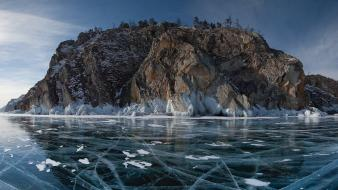 Ice mountains landscapes islands lakes wallpaper