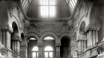 Interior capitol building monochrome historic old photography wallpaper