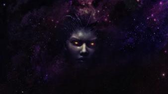 Kerrigan queen of blades starcraft ii space wallpaper