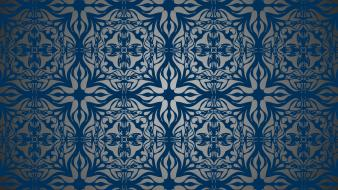 Light blue shapes turkey artwork antique ceramic background wallpaper