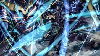 Lightning swords demon sword art online kirigaya kazuto Wallpaper