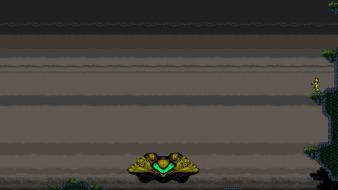 Metroid video games spaceships super retro wallpaper