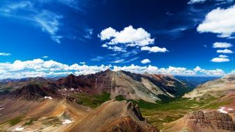 Mountains clouds landscapes nature freedom bottom sky wallpaper