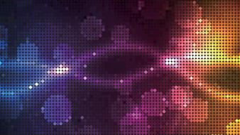 Multicolor vector glowing dots halftone graphics wallpaper