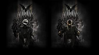 Music daft punk game of thrones iron throne wallpaper