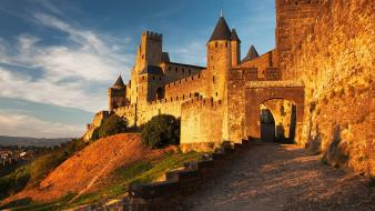Nature france medieval carcassonne wallpaper