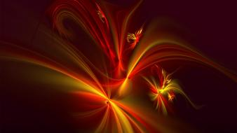 Red fractals firebird digital art Wallpaper