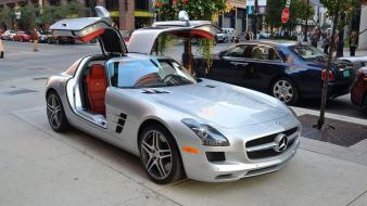 Sports class sls amg luxury mercedes benz wallpaper