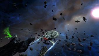Stars star trek rocks spaceships meteorite game wallpaper