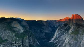 Sunset mountains landscapes nature forests valleys glacier point wallpaper