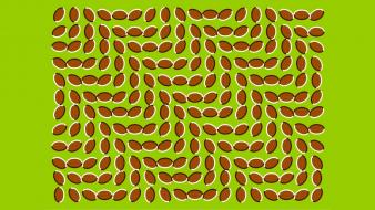 Trippy optical illusions beans tricks wallpaper