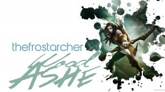 Video games league of legends frost archer ashe wallpaper