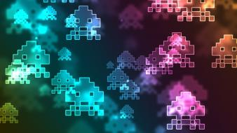 Video games space invaders retro wallpaper